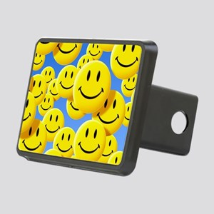 Smiley face symbols Rectangular Hitch Cover