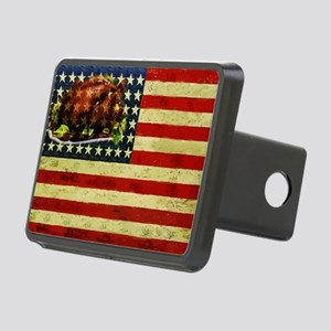 Thanksgiving Day Flag Rectangular Hitch Cover