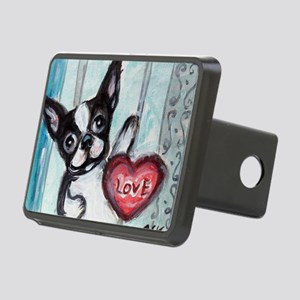 Boston Terrier Heart Hitch Cover
