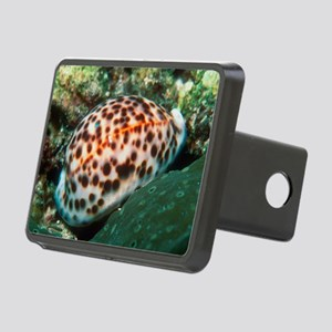 Tiger cowrie sea snail Rectangular Hitch Cover