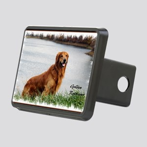 Golden Retriever Art Rectangular Hitch Cover