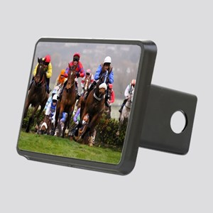 racing horses Rectangular Hitch Cover