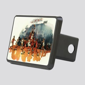 Vintage Sports Basketball Rectangular Hitch Cover