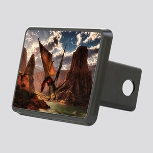 Fantasy dragon in the mountains Hitch Cover