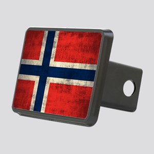 Flag of Norway Vintage Grunge Hitch Cover