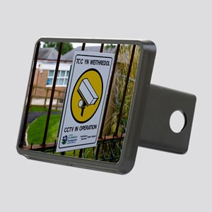Security camera sign at a  Rectangular Hitch Cover