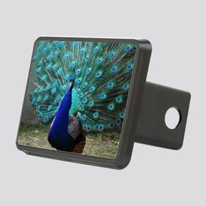 Peacock Plummage Rectangular Hitch Cover