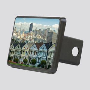 Alamo Square painted ladie Rectangular Hitch Cover