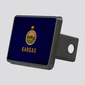 kansas text3tex3-paint Rectangular Hitch Cover