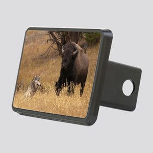 Bull Bison & Wolf Rectangular Hitch Cover