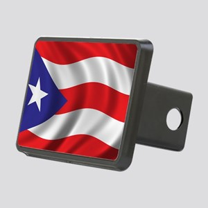 puerto_rico_flag Rectangular Hitch Cover