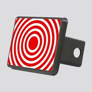 Red Bullseye Rectangular Hitch Cover