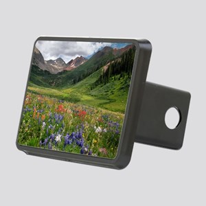 Alpine flowers in Rustler' Rectangular Hitch Cover