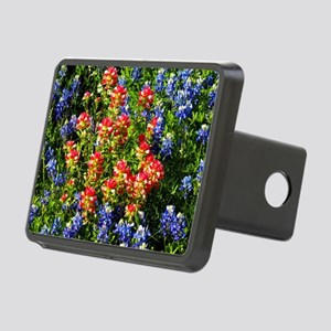 Texas bluebonnets Rectangular Hitch Cover