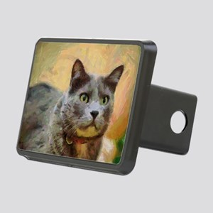 Cat painting Rectangular Hitch Cover