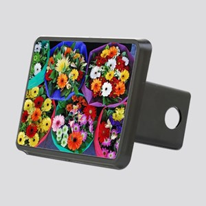 Colorful floral bouquets Rectangular Hitch Cover