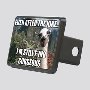 Bossy the Llama: Gorgeous Rectangular Hitch Cover