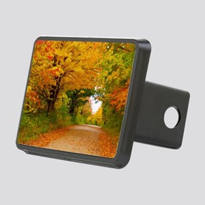 Autumn landscape of trees  Rectangular Hitch Cover