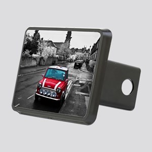 Red Mini Rectangular Hitch Cover
