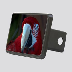 Green Wing macaw Rectangular Hitch Cover