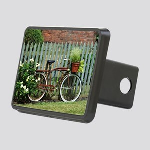 Vintage Floral Bicycle Rectangular Hitch Cover