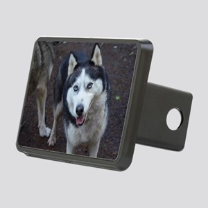 Blue Eyed Husky Rectangular Hitch Cover