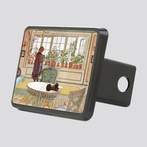 Girl at Window Rectangular Hitch Cover