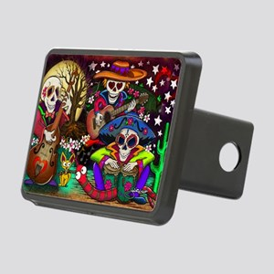 Day of the Dead Music art  Rectangular Hitch Cover