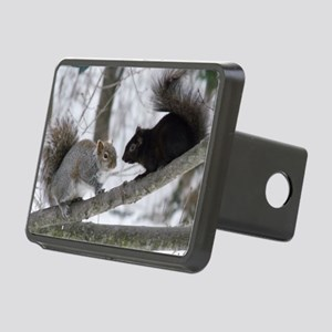Black Squirrel Rectangular Hitch Cover