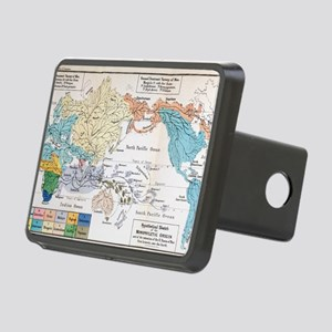 Ernst Haeckel Map Lemuria  Rectangular Hitch Cover