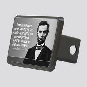 Lincoln Quote Aneruca Rectangular Hitch Cover