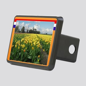 Holland Windmill and Tulip Rectangular Hitch Cover