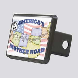 Route 66 Mother Road Poste Rectangular Hitch Cover