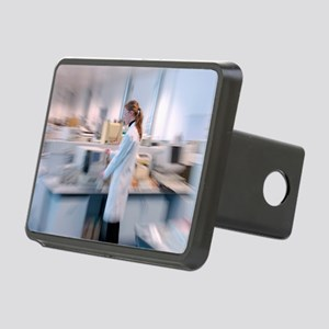 Scientist in a laboratory Rectangular Hitch Cover
