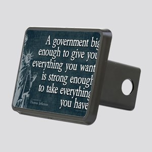 11x17_DarkFlagBigGovt Rectangular Hitch Cover
