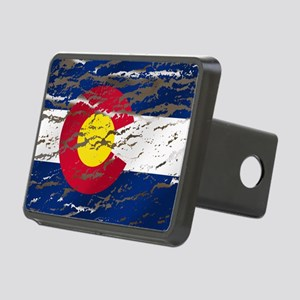 Colorado Vintage Flag Hitch Cover