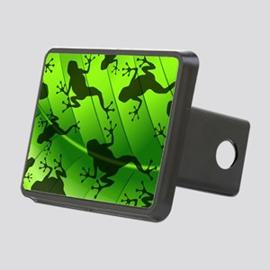 Frog Shape on Green Leaf Rectangular Hitch Cover