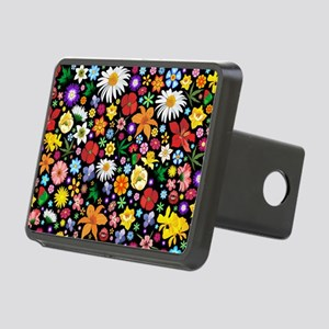 Spring Flowers Pattern Rectangular Hitch Cover