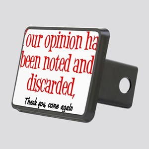 Opinion2 Rectangular Hitch Cover