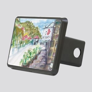 I Love St Barth Rectangular Hitch Cover