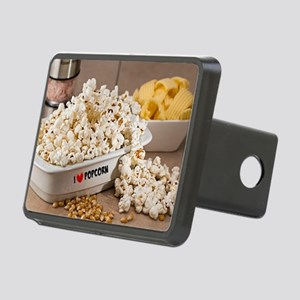 I Love Popcorn Rectangular Hitch Cover