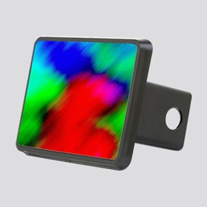 psychedelic rainbow art Rectangular Hitch Cover