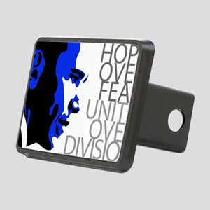 obama_blue_grey_division Rectangular Hitch Cover