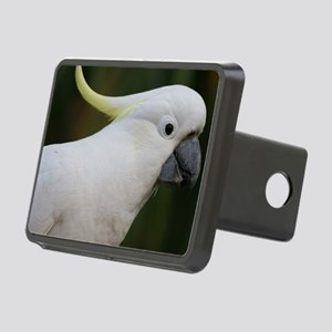 Cute White Cockatoo Rectangular Hitch Cover