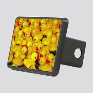 Cute yellow rubber duckies Rectangular Hitch Cover