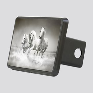 Wild White Horses Rectangular Hitch Cover
