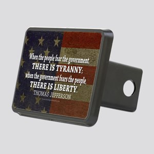 Jefferson Quote Liberty Rectangular Hitch Cover