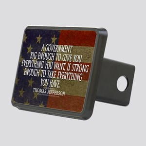 Big Government Quote Rectangular Hitch Cover