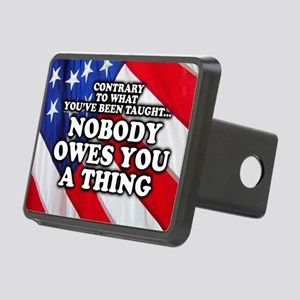 Nobody Owes You A Thing W/ Rectangular Hitch Cover