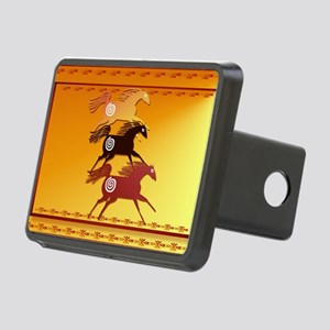 Wall Peel 3 Ancient Horses Rectangular Hitch Cover